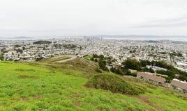 Vogelperspektive von im Stadtzentrum gelegenem San Francisco Stockbilder