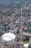 Vogelperspektive von im Stadtzentrum gelegenem Toronto Stockfoto