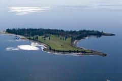 Vogelperspektive von Inseln nahe Acadia-Nationalpark, Maine Lizenzfreie Stockfotos
