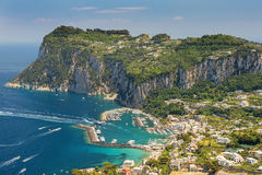 Vogelperspektive von Italiener Capri-Insel, Kampanien-Region, Italien stockfoto