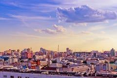 Vogelperspektive von Jekaterinburg am 26. Juni 2013 Stockfotografie