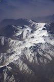 Vogelperspektive von Karakoram-Bergen von Sinkiang, China stockfotografie