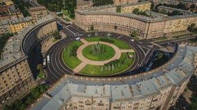 Vogelperspektive von Komsomola-Quadrat Stockfotografie
