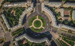 Vogelperspektive von Komsomola-Quadrat Stockfotos