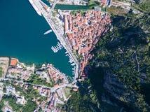 Vogelperspektive von Kotor Stockbild