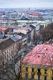 Vogelperspektive von Krakau Polen Lizenzfreie Stockbilder