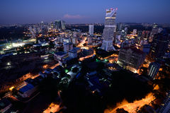 Vogelperspektive von Kuala Lumpur, Malaysia Lizenzfreie Stockfotos