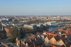 Vogelperspektive von LÃ-¼ Kessel, Deutschland lizenzfreie stockfotografie