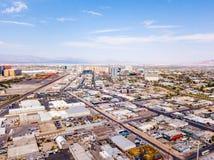 Vogelperspektive von Las Vegas-Streifen in Nevada, USA stockfotografie