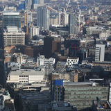 Vogelperspektive von London vom Funksprechgerätgebäude auf 20 Fenchurch der Straße Stockbild