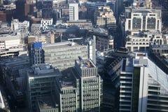 Vogelperspektive von London vom Funksprechgerätgebäude auf 20 Fenchurch der Straße Lizenzfreie Stockfotos