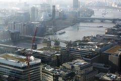 Vogelperspektive von London vom Funksprechgerätgebäude auf 20 Fenchurch der Straße Lizenzfreies Stockbild