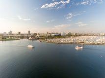 Vogelperspektive von Long Beach im LA Stockfoto
