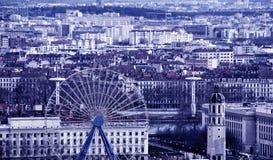 Vogelperspektive von Lyon, Frankreich Lizenzfreie Stockbilder
