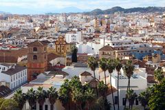 Vogelperspektive von Màlaga, Spanien Lizenzfreies Stockfoto