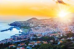 Vogelperspektive, von Madeira-Insel lizenzfreie stockfotos