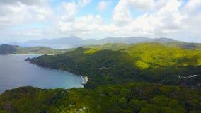Vogelperspektive von Mahe-`, Seychellen stock video