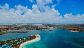 Vogelperspektive von Mauritius lizenzfreie stockbilder