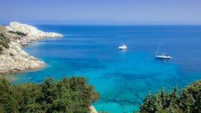 Vogelperspektive von Meer von Sardinien Lizenzfreies Stockbild