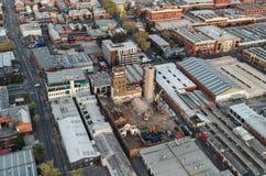 Vogelperspektive von Melbourne-Vororten Stockfoto