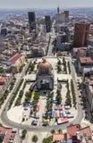 Vogelperspektive von mexico& x27; s-Revolutionsmonumentquadrat Lizenzfreie Stockfotos
