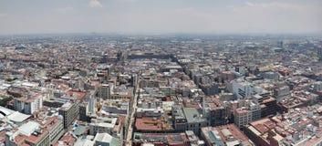 Vogelperspektive von Mexiko City in der städtischen Zone lizenzfreie stockbilder