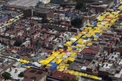 Vogelperspektive von Mexiko City Tepito Stockfoto