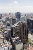 Vogelperspektive von Mexiko- Citygebäuden Stockfotos