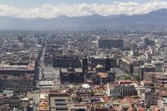 Vogelperspektive von Mexiko- Citykathedrale und von zentraler Piazza Lizenzfreies Stockfoto