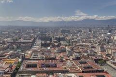 Vogelperspektive von Mexiko- Citymitte Lizenzfreies Stockfoto