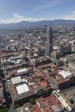 Vogelperspektive von Mexiko- Citymitte Lizenzfreie Stockfotos