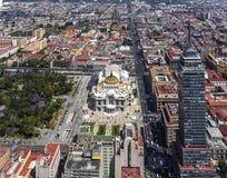 Vogelperspektive von Mexiko- Citymitte Stockbild