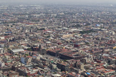 Vogelperspektive von Mexiko- Citymitte Stockfotos