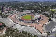 Vogelperspektive von Mexiko- Cityuniversität das Olympiastadion Lizenzfreie Stockfotos