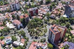 Vogelperspektive von Mexiko- Citywohnbereich Lizenzfreie Stockfotografie