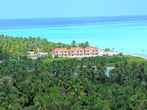 Vogelperspektive von Minicoy-Insel Stockfotografie