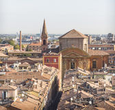 Vogelperspektive von Modena, Italien stockbild
