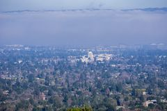 Vogelperspektive von Mountain View und von Los-Alten stockbild