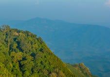 Vogelperspektive von moutain in Nord-Thailand Stockbild