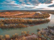 Vogelperspektive von Murray River in Kingston Stockfoto