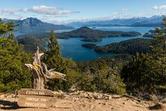 Vogelperspektive von Nahuel Huapi See Lizenzfreies Stockfoto