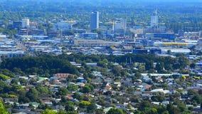 Vogelperspektive von neuen Skylinen des Christchurch-Stadtzentrums - Neuseeland