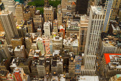 Vogelperspektive von New York City, USA Lizenzfreies Stockfoto