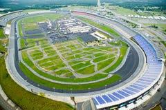 Vogelperspektive von Nord-Carolina Speedway in Charlotte, NC stockfotografie