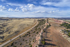 Vogelperspektive von Nord-Colorado-Vorbergen Stockbild