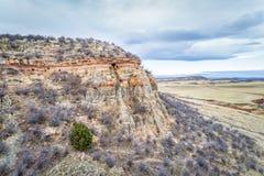 Vogelperspektive von Nord-Colorado-Vorbergen Stockbilder