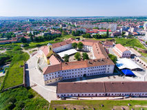 Vogelperspektive von Oradea-Festung Stockbilder