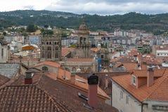 Vogelperspektive von Ourense-Stadt in Galizien (Spanien) Lizenzfreie Stockfotografie