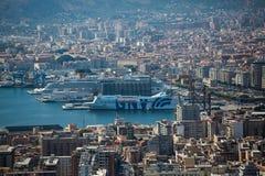 Vogelperspektive von Palermo, Italien Lizenzfreies Stockbild