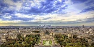 Vogelperspektive von Paris lizenzfreies stockbild